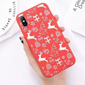 iPhone X XS 7 8 Plus Christmas Cute Case New